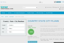 Country, State, City Database Script / We have Ajax based Database script for all Country, State and City. It's comes with Mysql.