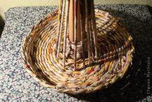 плетение / плетение их бумажных трубочек другие виды плетения