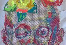 Art textile contemporain. Julia Bartolini / Recherches, projets, œuvres - Julia Bartolini -  Art textile contemporain. Sculptures textiles, photographies, broderies, installations.