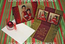 Holiday Photo Cards / Exclusive one of a kind custom Holiday Cards with your Holiday Portrait at Lloyd's Studio Photography.