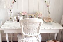 white and pastel