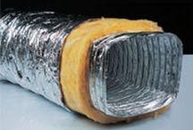 HVAC insulated duct basement