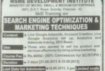 Google Adwords Training by LocSea / LocSea is conducting Google Adwords Training in MSME, Government of India, Chennai on September 21st and 22nd 2013.   Do not Miss this.  http://www.locsea.com/googleadwordstraining/