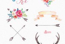 Flores y flechas