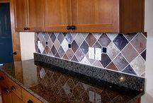 mosaic glass @ faux tiles