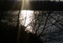 lac de Bretigny / Reflet du soleil dans le lac