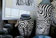 Twin Willows Ceramics / ceramic pottery sgraffito bowl mug yarnbowl handmade in South Africa by Jennifer Steyn