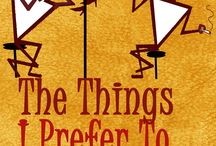 The Things I Prefer To Be Forgotten / Inspiration for Book