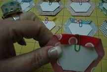 Paper piecing / English paper piecing patterns and tutorials