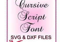 Svg and Dxf Fonts