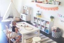 Playroom / Like the coffee table idea