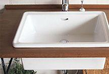 蛇口・水栓と洗面ボウル アイビーシリーズ / カントリー風のナチュラルな蛇口と洗面ボウルのシリーズ。まるで雑貨屋さんみたいな、おしゃれな洗面所に。