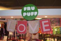En Fru Puffs / Estrellas blancas y rojas. Pedido especial para Fru Puffs (Bahía Blanca Plaza Shopping).