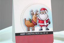 Cardmaking whimscical santa