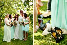 Bruidsmeisjes en Bruidsmeiden / Wat heerlijk als je gaat trouwen en besluit om meerdere bruidsmeisjes te hebben! Mooie gekleurde jurken, overal bloemen en cuteness gegarandeerd!