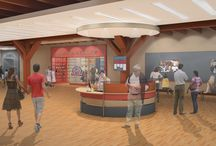 Architectural Renderings / These are the initial renderings of the National Bobblehead Hall of Fame and Museum, which will be located in Milwaukee, Wisconsin and is expected to open in 2016.  Renderings by: Andre Rosteing - University of Wisconsin-Milwaukee Graduate - www.AndreRosteing.com