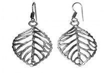 Silver Alloy Earrings
