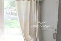 Drop cloth curtains {Home Decor}