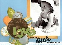 Scrapbook Layout_Baby_Kind