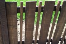 simple timber fences