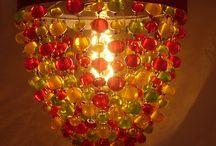 MORFIA Lumignon / Petites suspensions composées de perles en verre de Murano translucides de couleurs variées