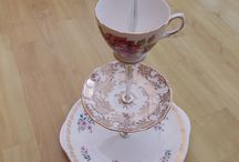 Make a Cake Stand from Vintage China