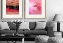 Art in Interiors / Abstract Art in Interior Design by abstract artist Vineta Cook