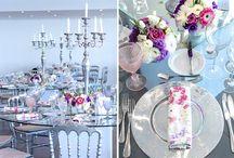 Purple Wedding Centerpieces - My Wedding Flowers Portugal / Purple Wedding Centerpieces - My Wedding Flowers Portugal