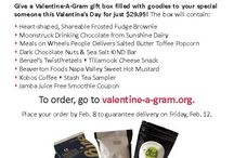 Valentine-A-Gram 2016 / Valentine-A-Gram is an annual fundraiser for Meals on Wheels People that allows individuals to send a special gift box on Valentine's Day to a special someone! Each gift box is $29.95 and makes a wonderful gift for your sweetheart, clients, teachers. We sell and deliver 4,000 boxes in the Portland-Vancouver metro area and we raise enough funds to provide 18,000 senior meals. We also need 600 volunteers to make this event run so visit our website to sign up today www.valentine-a-gram.org