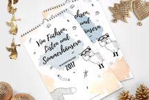 Illustration Fuchskalender 2017 Handmade Design / Schöner Fuchskalender für 2017 mit tollen Geschichten und schönen Illustrationen. Hangemacht und selbstgeschrieben.  Jetzt online bestellen und ein besonderes Weihnachtsgeschenk für alle Fuchsfreunde sichern!