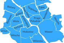 mapa Warszawy i okolic