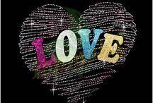 Love Valentine Rhinestone Transfers /  Love Valentine Rhinestone Transfers