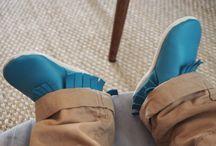 Nos chaussons cuir souple à franges