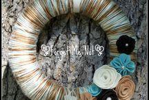 Yarn Wreaths, Felt Flowers / by Jennifer Dengler