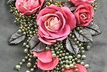 ПГ. Цветы. Розы. Изделия с розами / изделия из полимерной глины с розами.