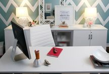 Home Office / Harkel Office Furniture, Para Paint and Bouclair Home.  www.whitewashco.ca