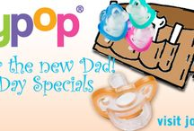 Great Gifts for a New Dad for Father's Day / Remember a New Dad on Father's Day with Personalized I Heart Daddy Pacifier Clip for Baby.