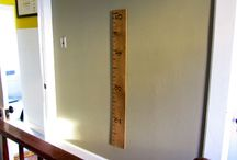 Giant ruler height board