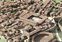 Hispania romana / Yacimientos y reconstrucciones de ciudades, edificios y restos arqueológicos de ciudades de la Hispania romana