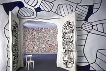 """Jean Dubuffet / Jean Philippe Arthur Dubuffet (31 July 1901 – 12 May 1985) was a French painter and sculptor. His idealistic approach to aesthetics embraced is called """"low art"""". He moved to Paris in 1918 to study painting at the Académie Julian, but stopped in 1924 and took over his father's business selling wine. In 1942, he decided to devote himself to art and started painting subjects from every day life. http://en.wikipedia.org/wiki/Jean_Dubuffet / by Appeltaartje Met Slagroom"""