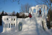 Kids outdoor snow fun / by Jessica Giordano
