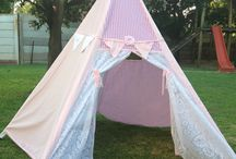 Wigwams & Playhouse Tents / Our Wigwams and Tents are perfect for kids of all ages for inside or outside play! Easy to transport when flat packed and can be put up within minutes! Available in different colours and fabrics.