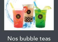 Nos bubble teas / Composés sur place, vous créez vous même votre bubble tea parmis une large choix de saveur !