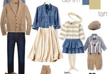Outfit Ideas-Fall / These are color schemes/outfit ideas for portrait sessions.