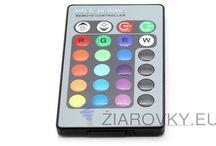 ĎIALKOVÉ OVLÁDAČE / LED ovládače slúžiace pre zmenu farieb RGB LED pásov a svietidiel. Kontrólery pre ovládanie RGB led pásika. Bezdrôtové ovládače LED pásika s možnosťou zmeny jasu. RGB ovládače,ovládač na led pásy,ovládanie led pásov,stmievače na led pásy,pásy na dialkové ovládanie,RGB riadenia,led ziarovky,led žiarovky,led pasy. RGB infračervený ovládač je univerzálnym ovládačom na prepínanie a miešanie farieb R-G-B (z angličtiny: Red-Červená, Green-Zelená, Blue-Modrá)