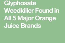 Glyphosate in orange juice