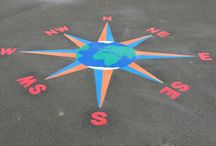 Compasses for the playground