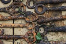 Old Rusty Things / Beautifully aged found objects