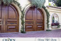 Mediterranean Garage Doors / Mediterranean style garage doors custom made by Crown Garage Door & Gates