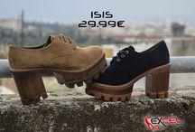 ISIS Μποτάκια Suede Μαύρο & Ταμπά    29.99€